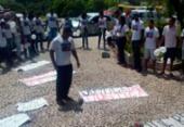 Moradores do Bairro da Paz protestam na seda do SSP | Foto: