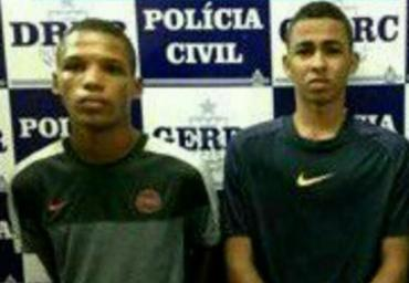 Dunga (E) e Rodrigo já são velhos conhecidos da polícia e seguem sendo procurados - Foto: Reprodução