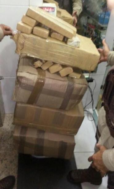 Droga foi encontrada dentro de caixas - Foto: Divulgação | Polícia Militar