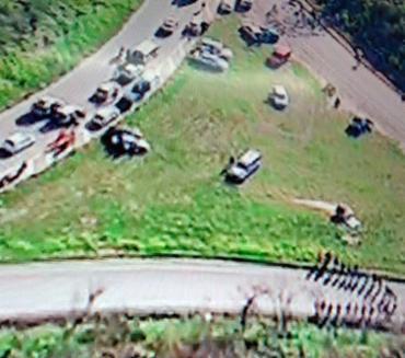 Protesto acontece na BA-528 sentido Porto de Aratu - Foto: Reprodução | TV Record