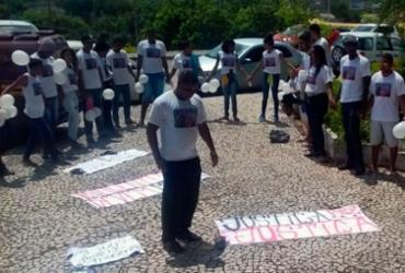 Moradores do Bairro da Paz protestam na seda do SSP