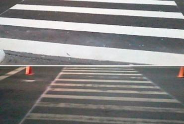 Ação revitaliza faixas de pedestre na capital baiana
