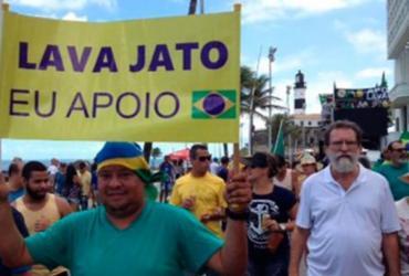 Grupo promove ato na Barra para apoiar a Operação Lava Jato