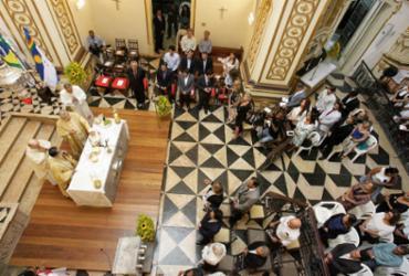 Missa na Igreja de Sant'Ana celebra os 468 anos do 'nascimento' de Salvador |