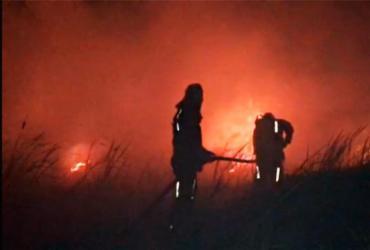 Incêndio semelhante ao da Praia do Forte atinge Guarajuba