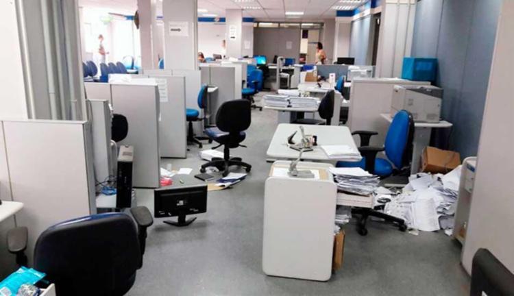 A unidade foi encontrada toda revirada - Foto: Divulgação | INSS