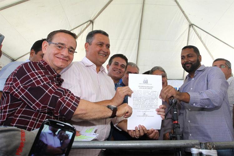 Governador assinou Ordem de Serviço para início das obras em Seabra - Foto: Mateus Pereira l Gov-BA