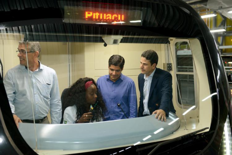 Ministro e prefeito visitaram obras do metrô de Salvador - Foto: Divulgação | Secom