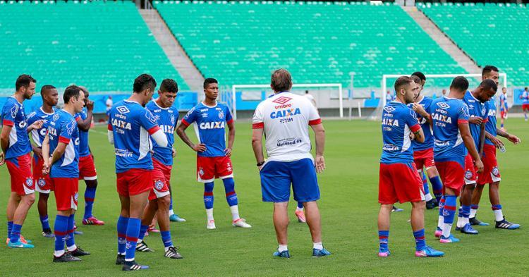 Tricolor treinou na Fonte e conheceu gramado - Foto: Felipe Oliveira l EC Bahia