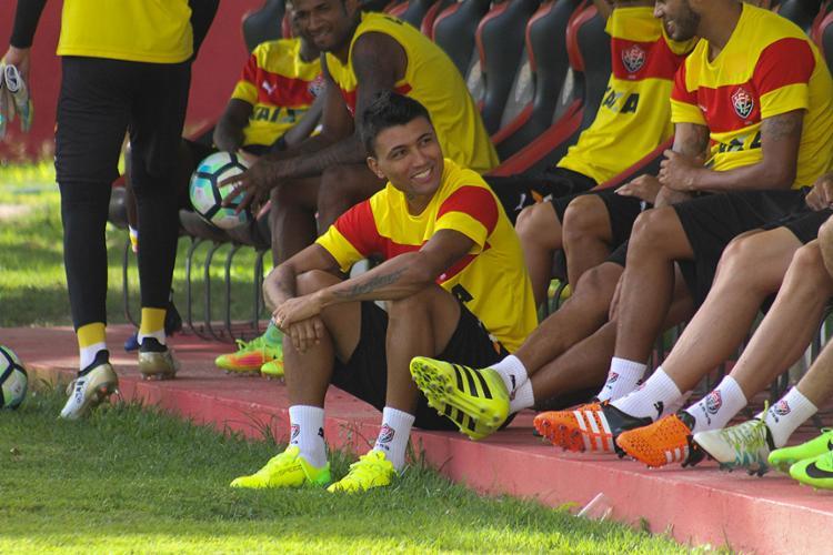 Artilheiro do time, Kieza quer voltar a marcar após três jogos de jejum - Foto: Maurícia da Matta l EC Vitória