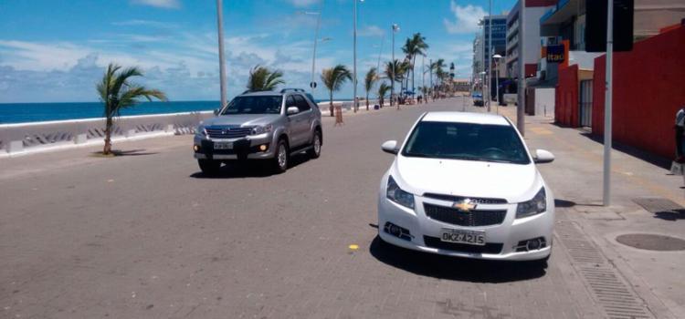 Com motoristas confusos, via teve pouco movimento nesta manhã - Foto: Luciano da Matta | Ag. A TARDE
