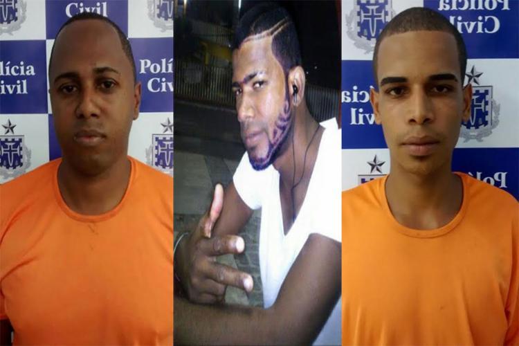 Idenivaldo Oliveira, Vitor Neri e Paulo Santos participaram do assassinato do PRF - Foto: Divulgação | Polícia Civil