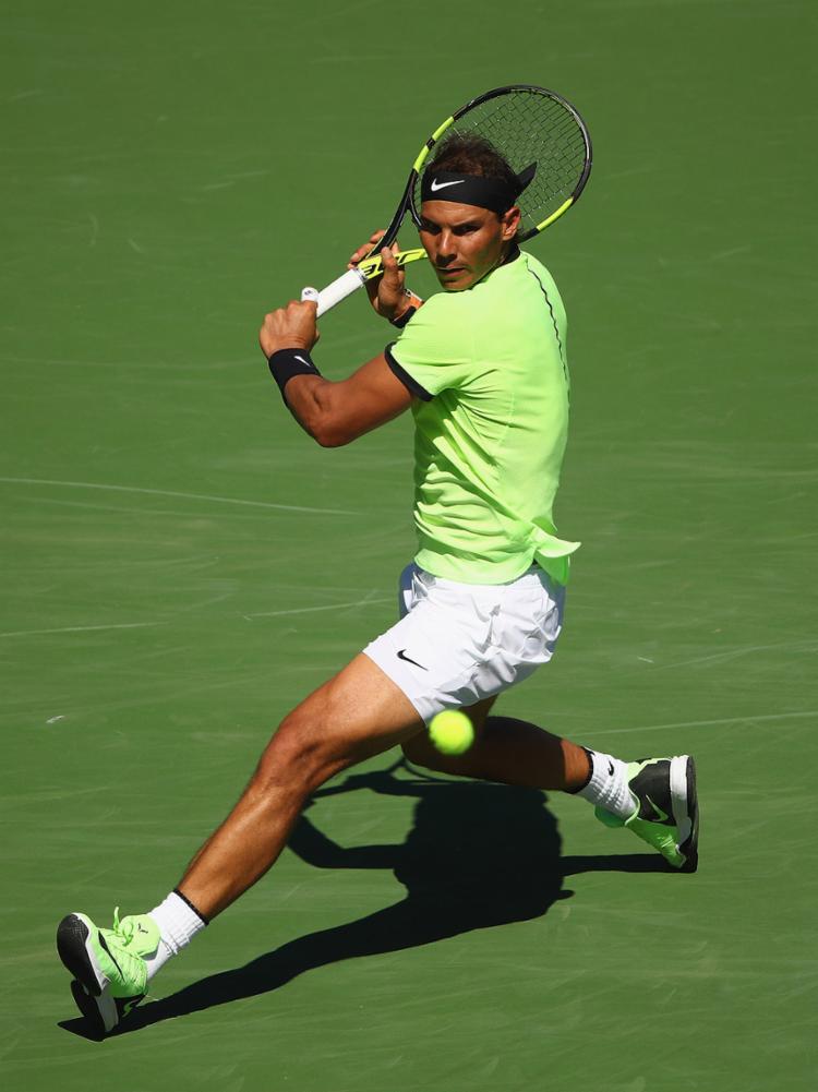 Espanhol Rafael Nadal bateu Fernando Verdasco por 6/3 e 7/5 - Foto: Clive Brunskill l Getty Images l AFP Photo
