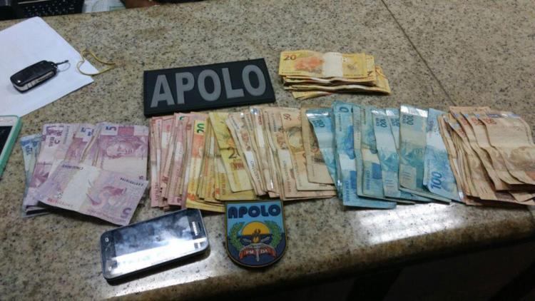 O homem ofereceu R$ 60 mil aos policiais para não ser conduzido à delegacia - Foto: Divulgação | Polícia Militar