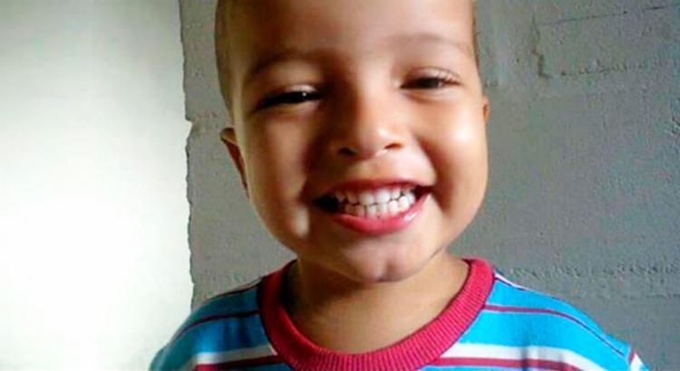O pequeno Luís Henrique estava brincando no quintal - Foto: Arquivo Pessoal