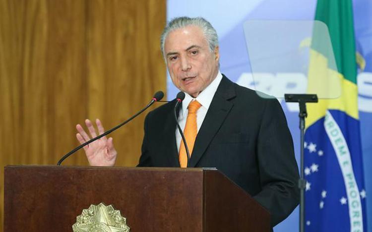 Presidente fez pronunciamento sobre dados do Caged no Palácio do Planalto - Foto: Valter Campanato l Agência Brasil