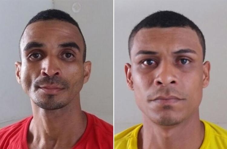 Edenilton (E) e Vandeilton transportavam a droga de Salvador para Jequié quando foram abordados - Foto: Divulgação l Polícia Civil