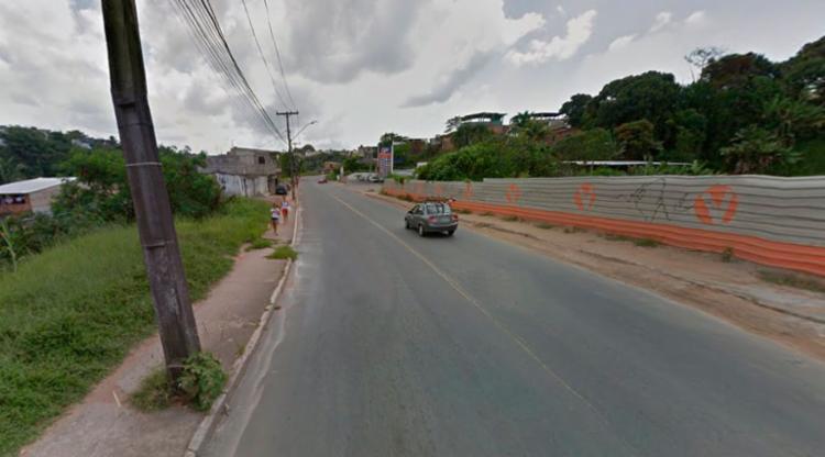 O crime aconteceu na Estrada do Matadouro em Cajazeiras VI - Foto: Reprodução | Google Maps