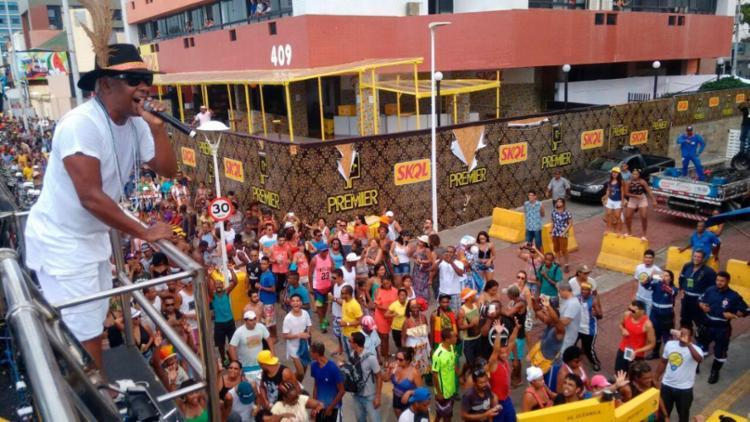 Márcio Victor abriu arrastão nesta Quarta-feira de Cinzas - Foto: Luciano da Matta | AG. A TARDE