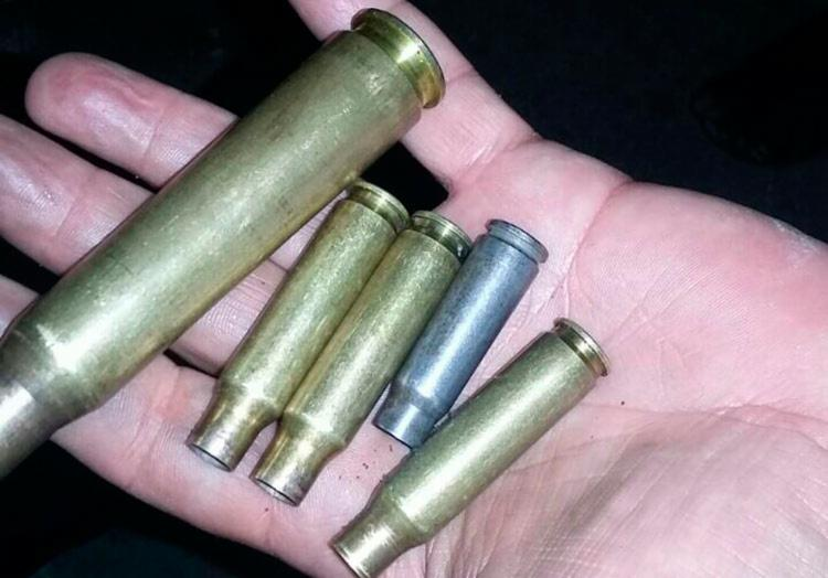 Projéteis das munições encontradas no local - Foto: Reprodução | Augusto Urgente