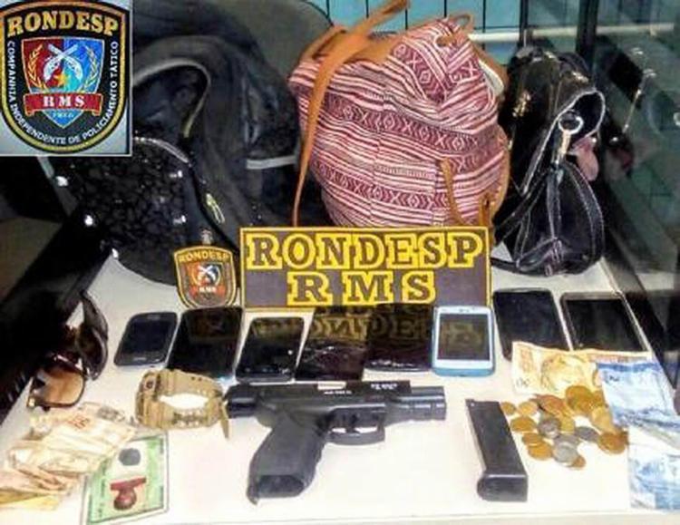 Todos os objetos foram recuperados - Foto: Divulgação | Polícia Militar