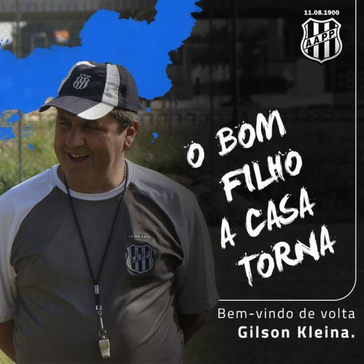 Ponte Preta desejou boas-vindas ao técnico através das redes sociais - Foto: Reprodução | Facebook