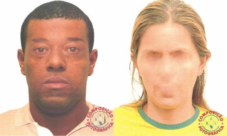 O retrato falado dos dois suspeitos está incompleto - Foto: Divulgação | Polícia Civil