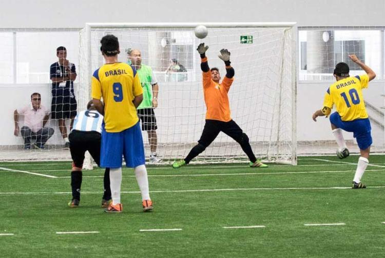 Brasil e Argentina disputaram nesta sexta-feira, 24, a final do Futebol de 5 - Foto: Divulgação