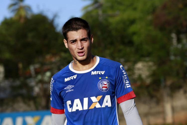 O goleiro Jean não viajou com a equipe para Sergipe - Foto: Felipe Oliveira | EC Bahia