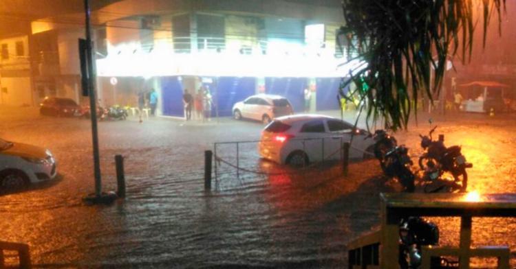 Alguns pontos de Porto Seguro ficaram alagados - Foto: Reprodução | Radar 64