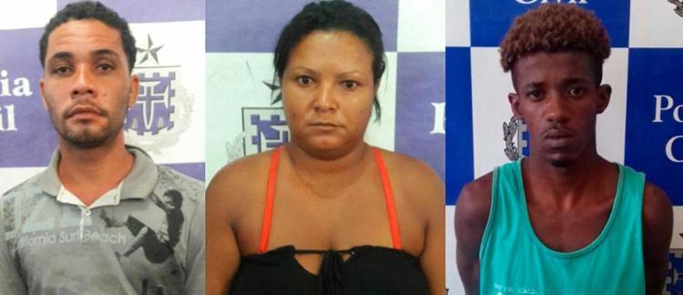 Geovane, Jacsilene e Breno foram presos ontem - Foto: Divulgação   Polícia Civil