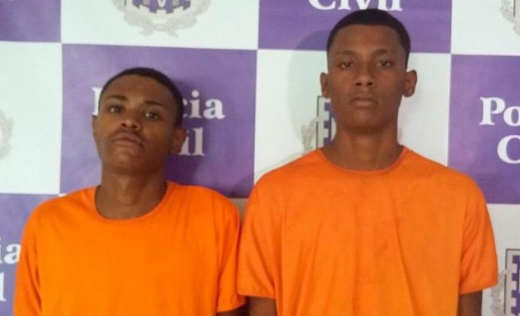 A dupla foi detida depois de assaltar uma farmácia no Jardim Apipema - Foto: Divulgação | Polícia Civil