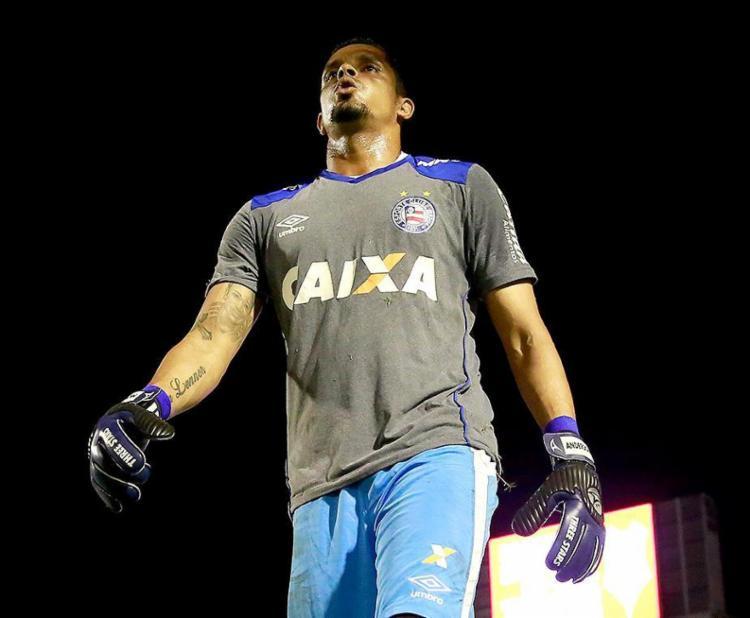 Goleiro Anderson sofreu quatro gols em sete jogos, dois deles no duelo de quarta-feira com o Sergipe - Foto: Felipe Oliveira l EC Bahia