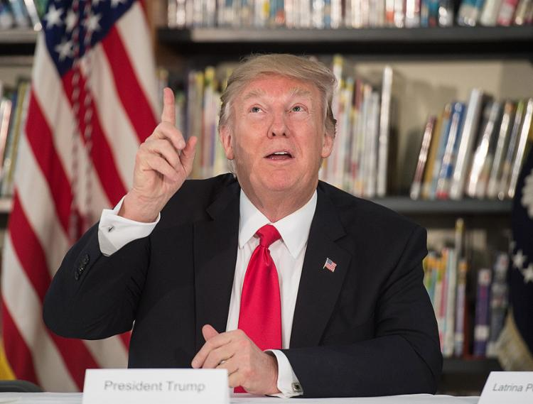 Donald Trump: 'Quão baixo o presidente Obama foi para grampear meus telefones durante processo eleitoral' - Foto: Nicholas Kamm l AFP
