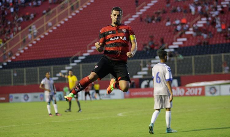 André Lima marcou o segundo do Vitória - Foto: Margarida Neide | Ag. A TARDE