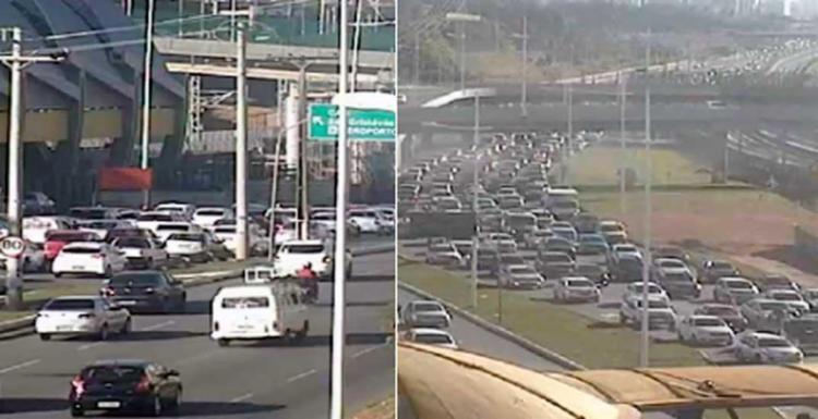 Trânsito fica congestionado no sentido Aeroporto - Foto: Divulgação| Transalvador
