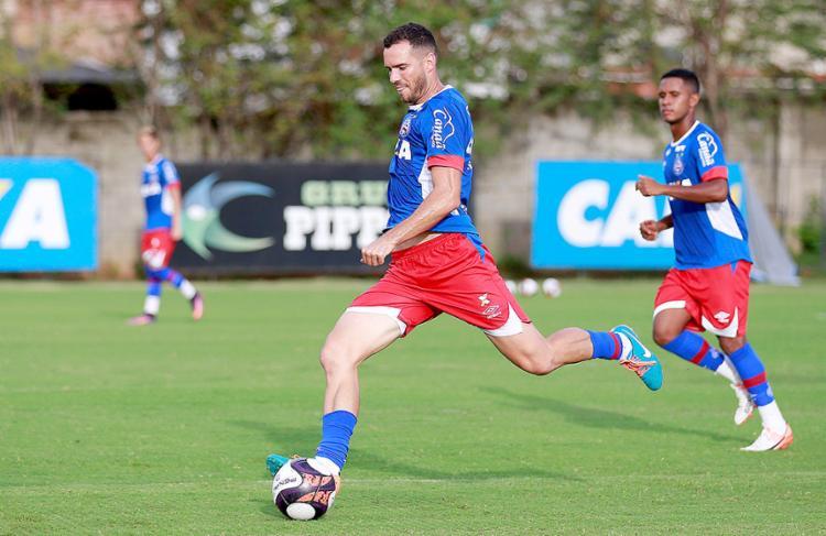 Lucas Fonseca atuou nos dois jogos em que o time levou gol - Foto: Felipe Oliveira l EC Bahia