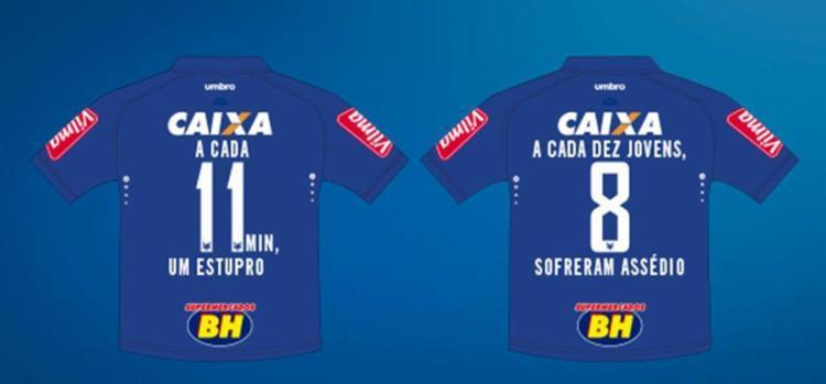 Alguns modelos das camisas que os jogadores usarão - Foto: Divulgação | Cruzeiro EC