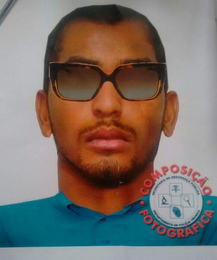 Retrato falado do homem que atirou no empresário - Foto: Divulgação | Polícia Civil