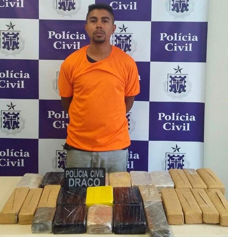 Uendel da Silva Santos vai responder por tráfico de drogas - Foto: Divulgação | Polícia Civil