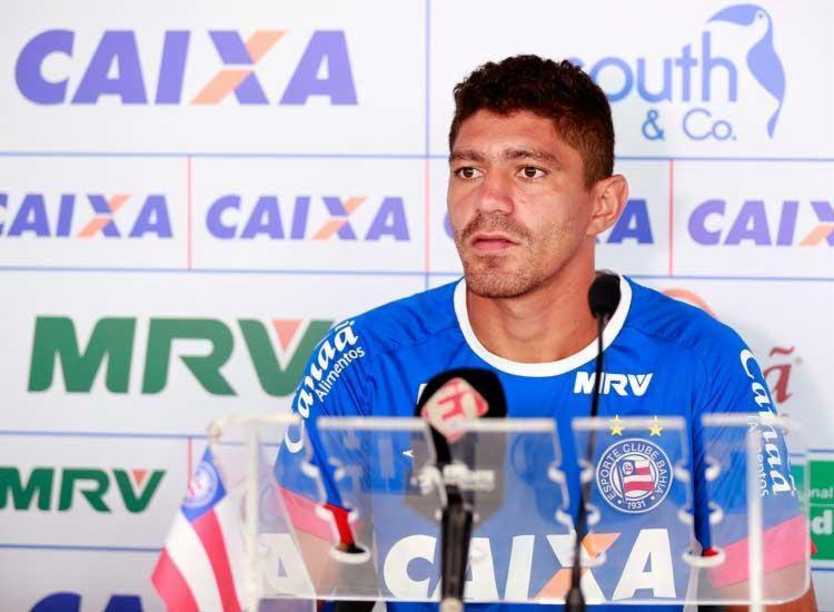 Édson não gostou da declaração de Guilherme Biteco após o jogo - Foto: Felipe Oliveira | Divulgação | ECBahia