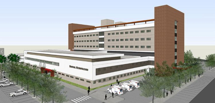 Projeto do Hospital Metropolitano que será construído no município de Lauro de Freitas foi apresentado nesta quinta-feira, 9 - Foto: Reprodução