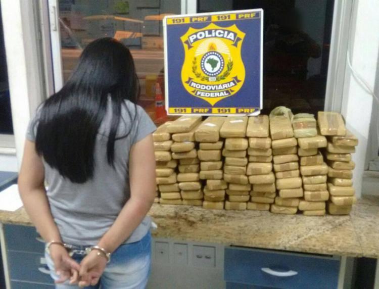 Droga estava sendo transportada de São Paulo para Caruaru - Foto: Divulgação   PRF