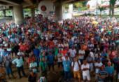 Trabalhadores da construção pesada protestam na região do Shopping da Bahia | Foto: