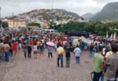 Manifestantes bloqueiam a BR-324 em Jacobina | Foto: