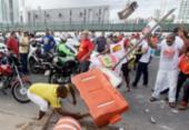 Sindicalista fica ferido em confronto com mototaxistas durante protesto | Foto: