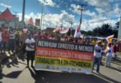Cliques dos protestos contra as reformas na Bahia | Foto: