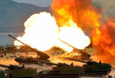 Coreia realiza exercício militar para comemorar fundação do exército