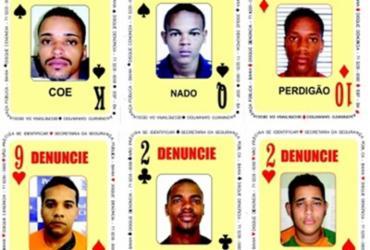 Baralho do Crime da SSP é atualizado com seis novas cartas