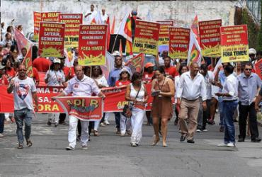 Em protesto contra reformas, ônibus, escolas e bancos param hoje